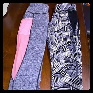 LOT OF 2! Women's athletic crops